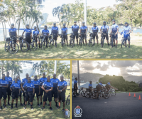 Amalgamated Security Services Sponsors the Bicycle Patrol Team of the Royal St. Lucia Police Force