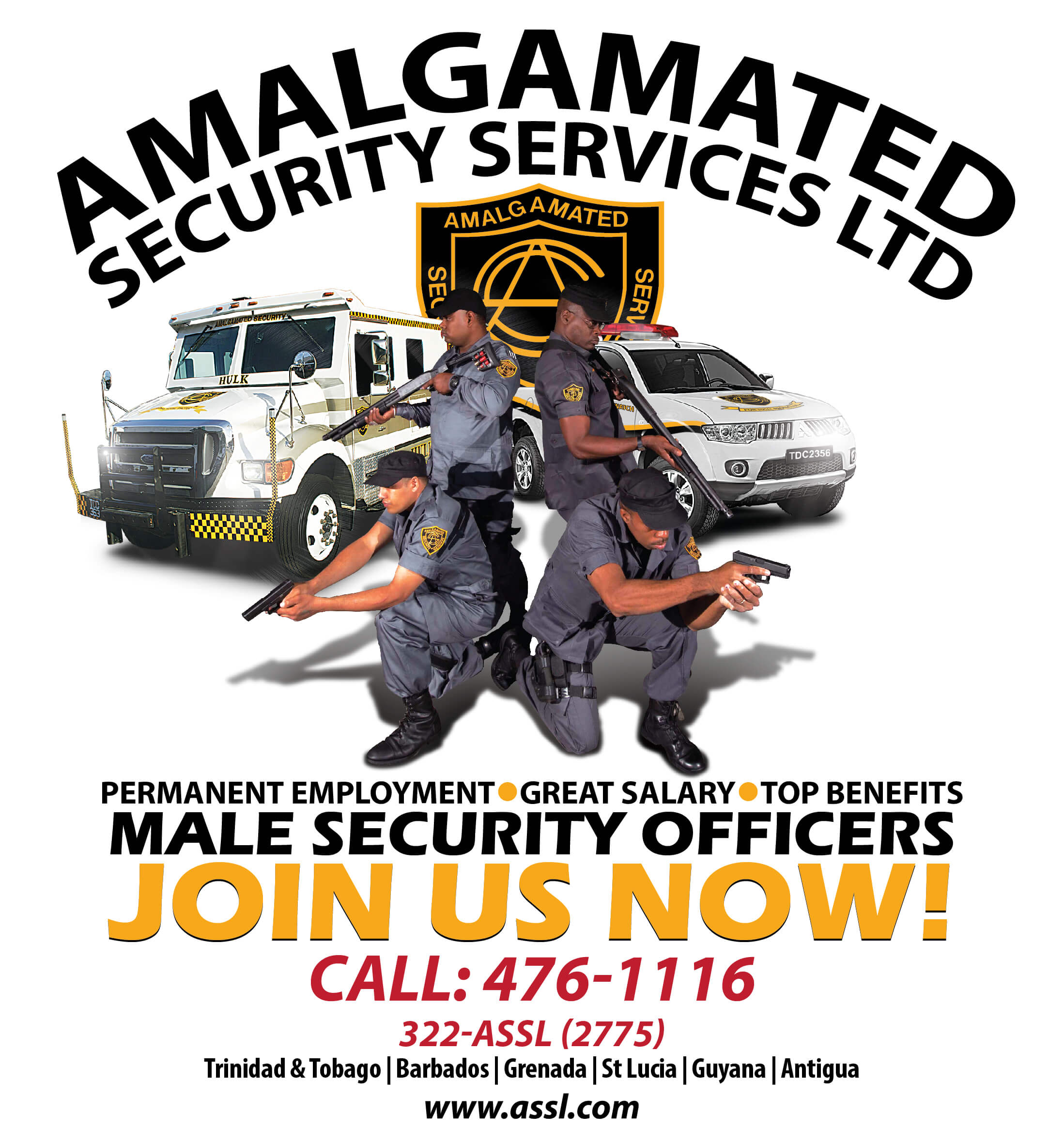 Amalgamated Security Services Limited Careers Now Hiring Male Security Officers